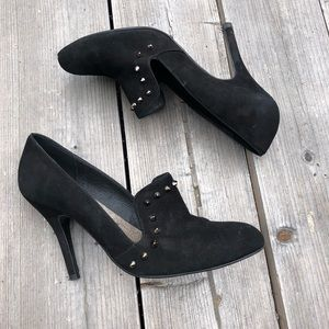 Free People Suede Leather Upper Pointy Studs